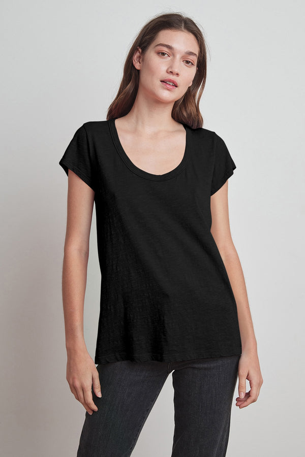 Kira Scoop Neck Tee