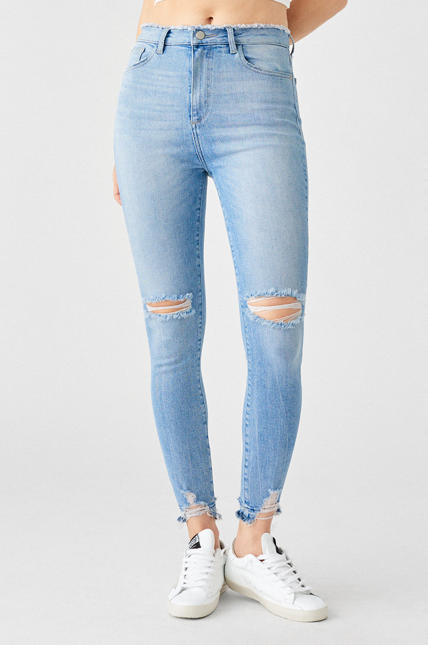Chrissy Ankle: Ultra High Rise Skinny in Lagunita