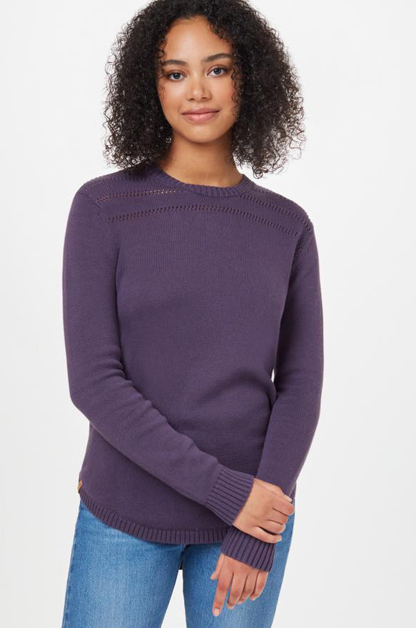Forever After Sweater in Aubergine Purple