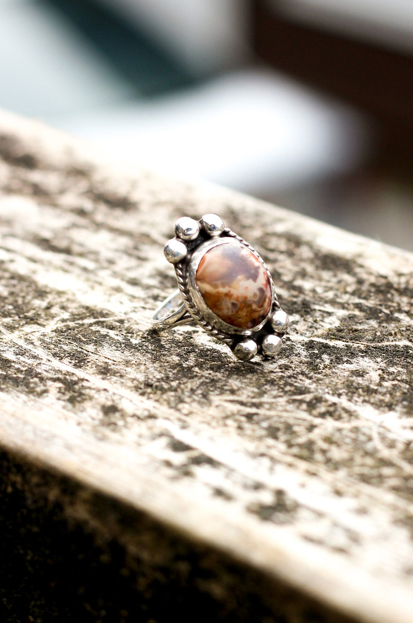 Vintage Pink & Brown Ring