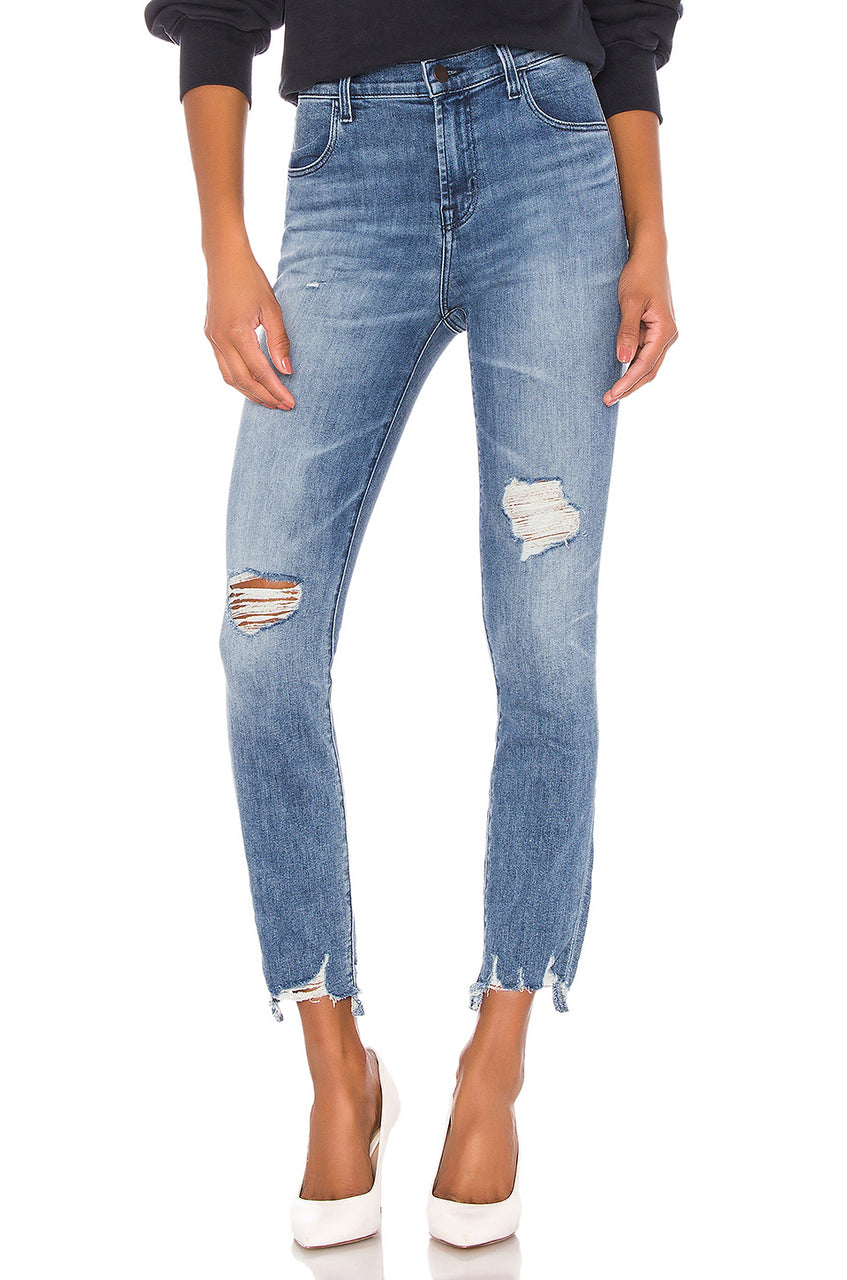 Alana High Rise Skinny Distressed Crop