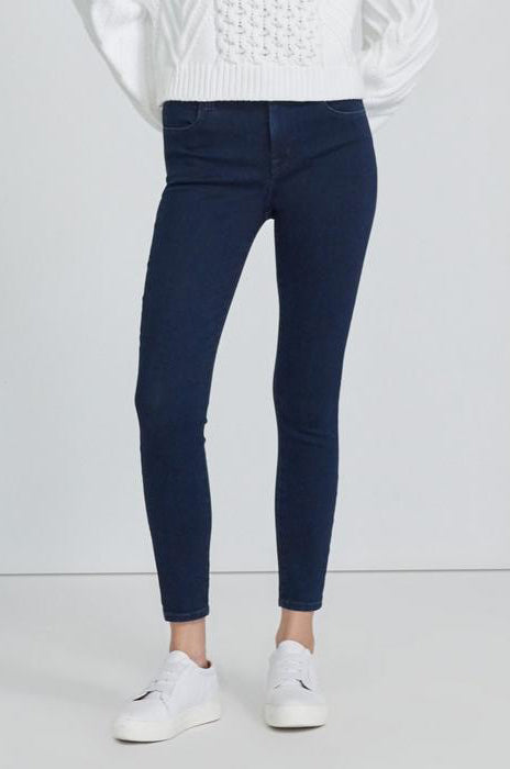 Alana High Rise Cropped Skinny in Dash