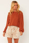 Love High Long Sleeve Knit Fleece Top