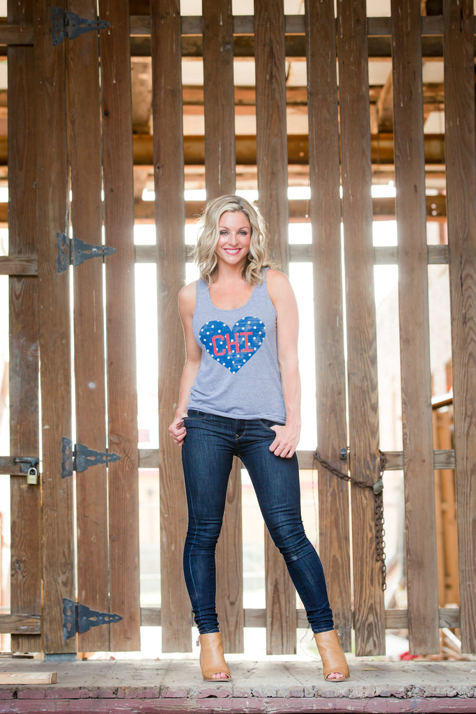 Chicago Polka Dot Tank Top- FINAL SALE