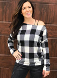 City Chic- Black & Ivory Plaid—FINAL SALE