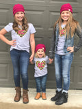 Kids KC Leopard Heart Tee Bundle (PINK)