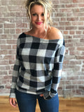 City Chic- Grey and Black Plaid