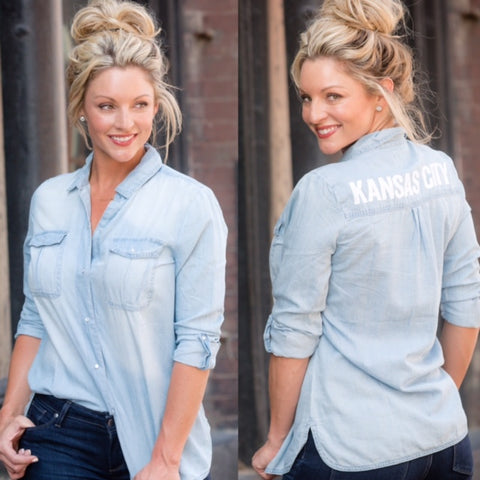 Kansas City Chambray Denim Shirt