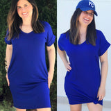 Royal Tee Shirt Dress — FINAL SALE