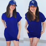 Royal Tee Shirt Dress