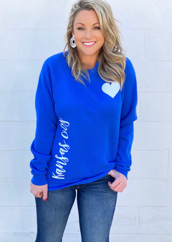 Vertical Love- Royal Blue - FINAL SALE!