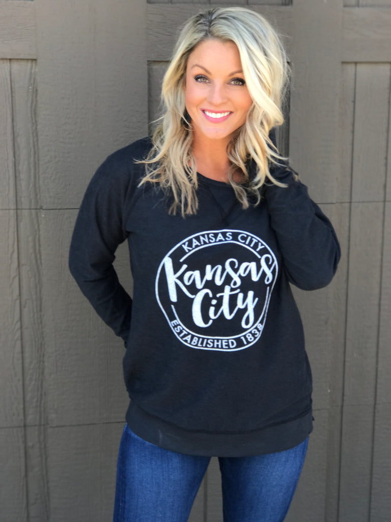 KC Black Reversible Pullover
