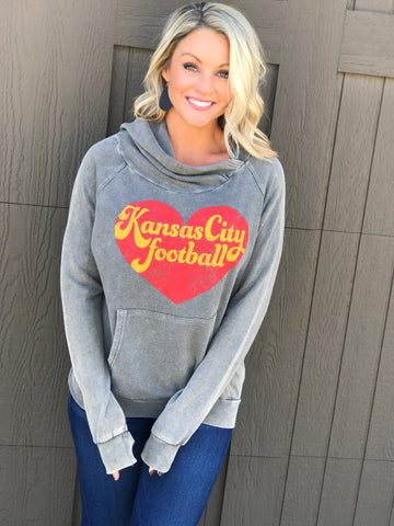 Kansas City Football Sideways Hoodie