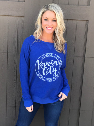 KC Reversible Royal Blue Pullover