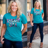 Kansas City Teal Floral