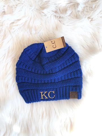 KC Royal Blue CC Beanie (no pom)