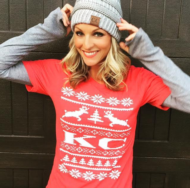 Christmas Sweater Red KC Tee