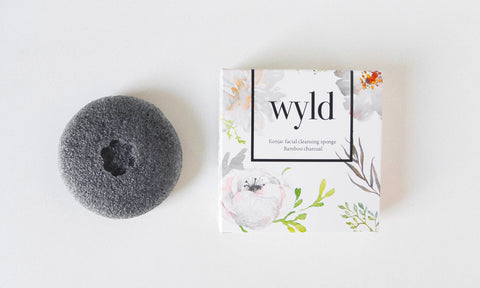 Wyld Skincare Konjac Facial Cleansing Sponge - Natural, Organic, Vegan, Biodegradable Exfoliation Scrub - Best for skin with acne sensitive eczema breakouts