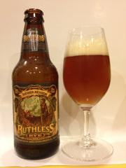 Glass of Ruthless Rye beer