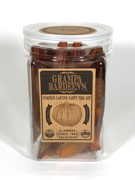 Grampa Bardeen's Pumpkin Carving Party Tool Set