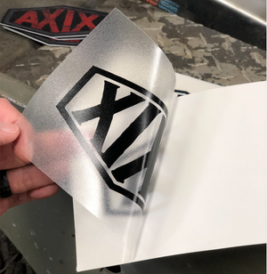 AXIX - Black vinyl custom cut