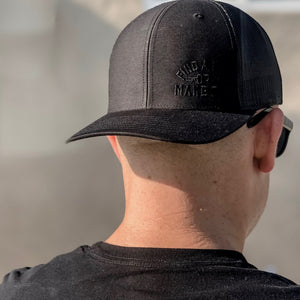 Find A Way Trucker Hat - Black - AXIX Clothing Co. - Veteran Owned Lifestyle Brand