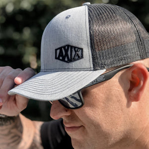 Tombstone Trucker Hat - Heather / Black - AXIX Clothing Co. - Veteran Owned Lifestyle Brand