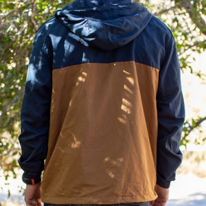 Explorer Windbreaker - Navy/Saddle Brown