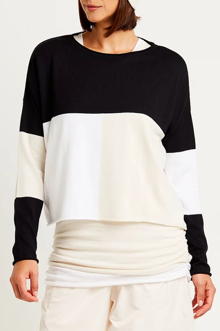 black-white-vanilla-patched-top