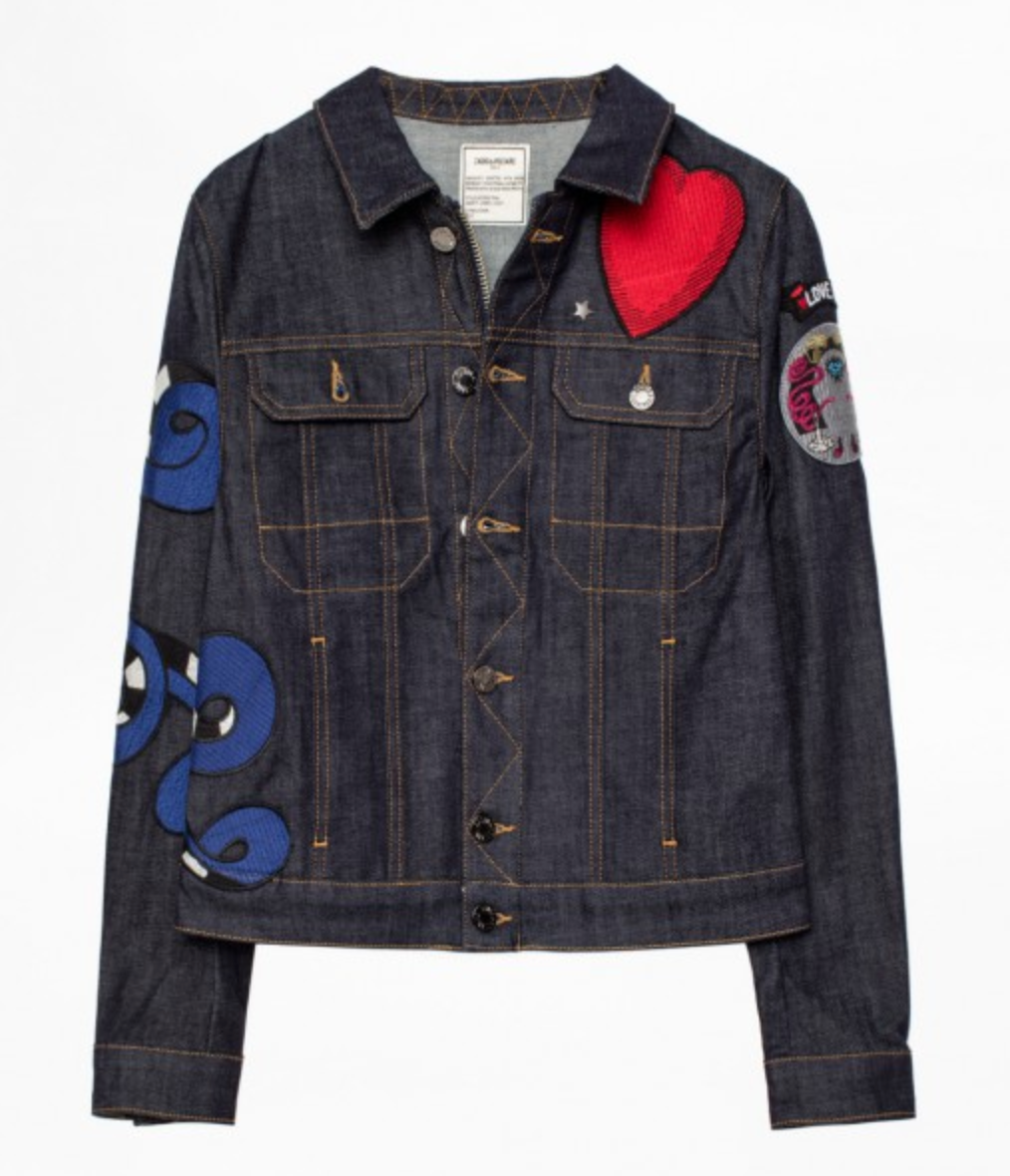 Kioky Brode Embroidered - Denim