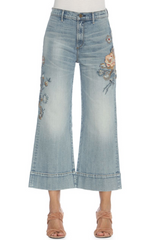 Driftwood Charlee Wide-Leg Cropped Jeans - Light Wash