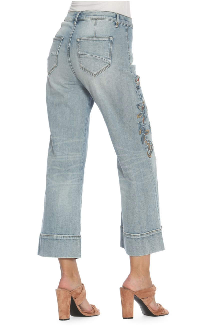 Charlee Wide-Leg Cropped Jeans - Light Wash
