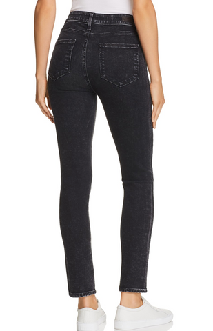 Hoxton Ankle Peg Skinny Jeans Btn Fly - City Noir