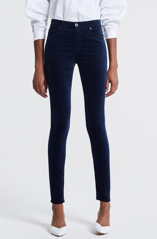 Winston Crop Pant - Blue Stripe