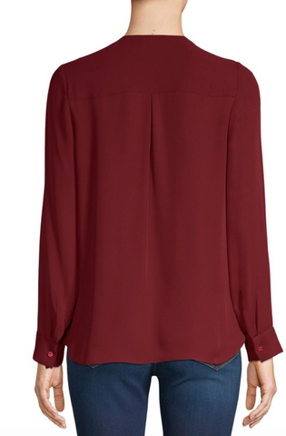 L'Agence - Kyla Blouse - Malbec Red - 50% off