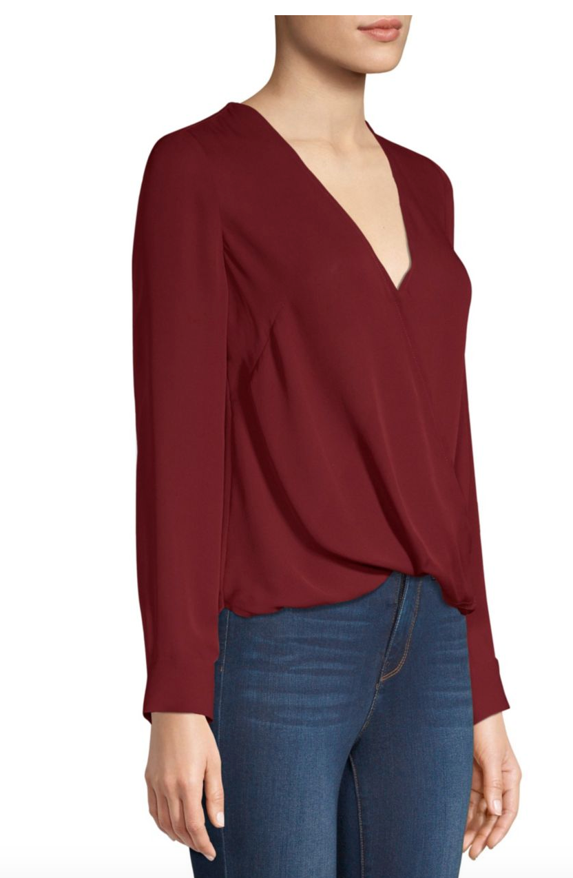 Kyla Blouse - Malbec Red