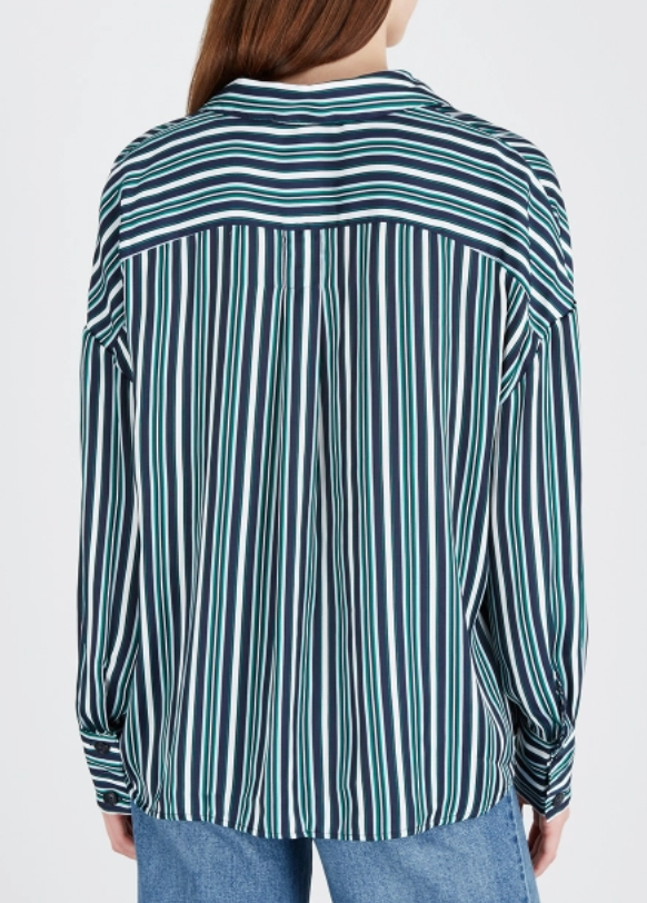 Mad About You Buttondown - Ivory and Red Black Stripes