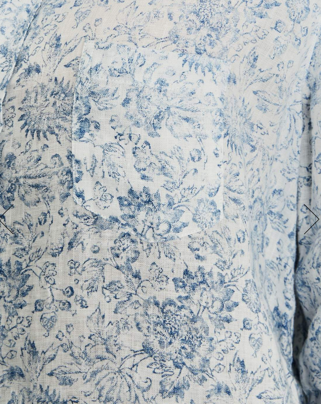 Eileen - White with Blue Floral