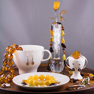 What are you serving up for Mum on Mother's Day? How about a selection of amber jewellery?