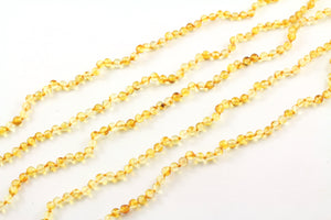 5mm Round Baltic Amber Golden Yellow Bead Necklace