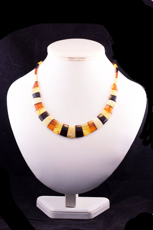 Cleopatra Baltic Amber Collar Necklace