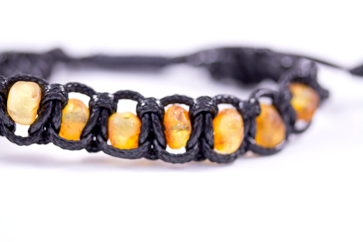 Natural Raw Baltic Amber Adjustable Bracelet