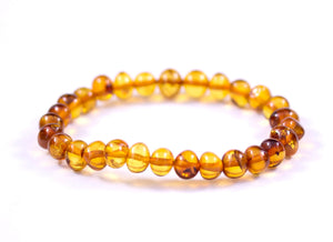 Baltic Amber Cognac Stretch Bracelet