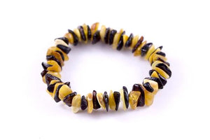Milky Yellow and Cherry Baltic Amber Mix 'n Match Stackable Bracelet