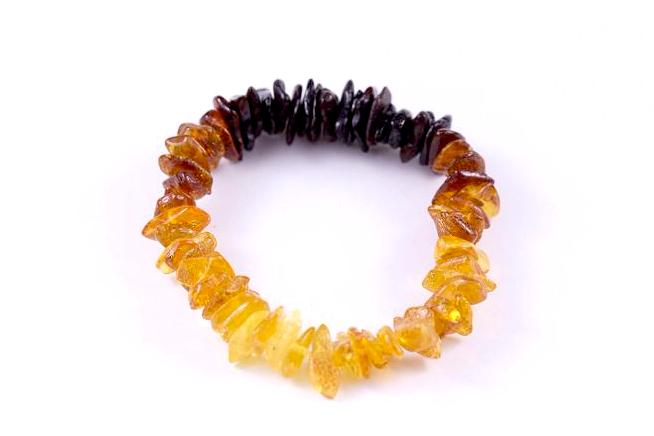 Rainbow Baltic Amber Mix 'n Match Stackable Bracelet