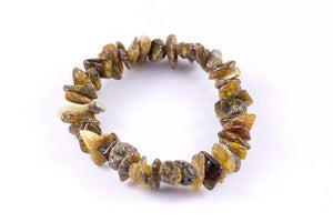 Natural Green Baltic Amber Mix 'n Match Stackable Bracelet