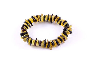 Yellow and Cherry Baltic Amber Mix 'n Match Stackable Bracelet