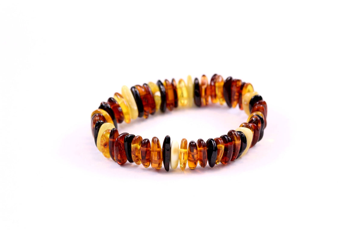 Baltic Amber Multi Shard Bead Bracelet