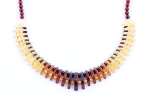 Facetted Baltic Amber Bead Collar Necklace