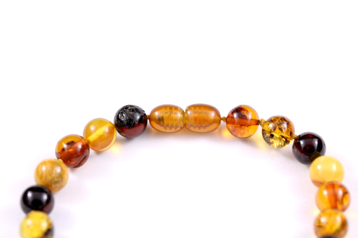 8mm Round Baltic Amber Multi Bracelet